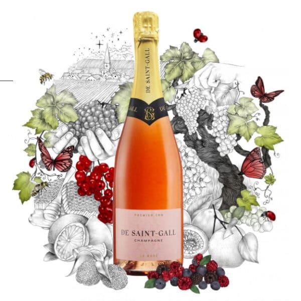 De Saint Gall Champagne Rose 1er Cru